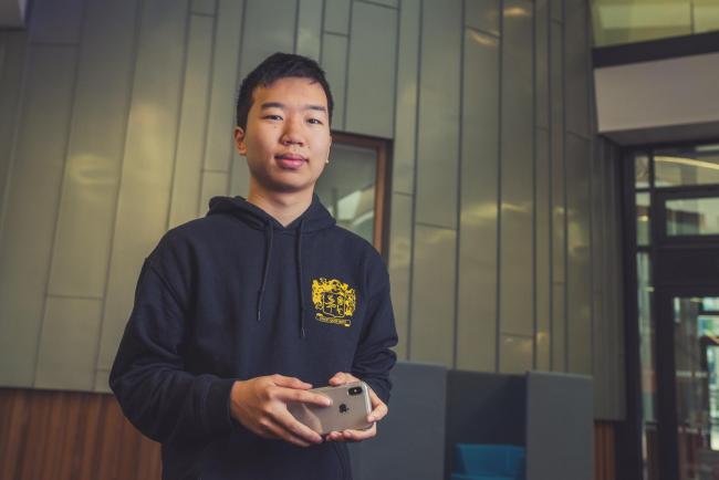 Nineteen-year-old Yoyo Chang has launched a mobile payment app which is attracting interest from retailers and investors Picture: Alex Holland