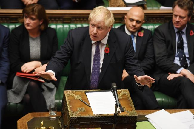 Adolescent changing room banter: Prime Minister Boris Johnson. Picture: UK Parliament/Jessica Taylor