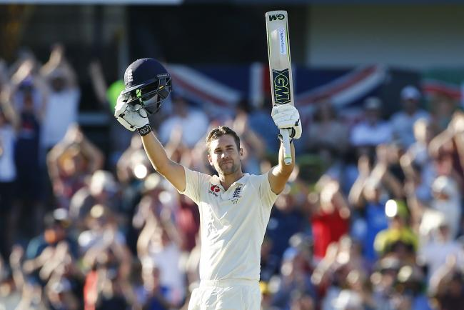 England's Dawid Malan celebrates his century  during day one of the Ashes Test match at the WACA Ground, Perth. PRESS ASSOCIATION Photo. Picture date: Thursday December 14, 2017. See PA story CRICKET Australia. Photo credit should read: Jason O'Br