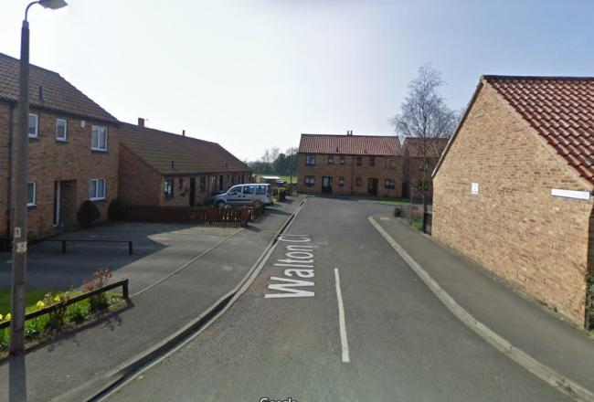 Walton Close, Huby, where a teenager was assaulted at a party   Picture: Street View