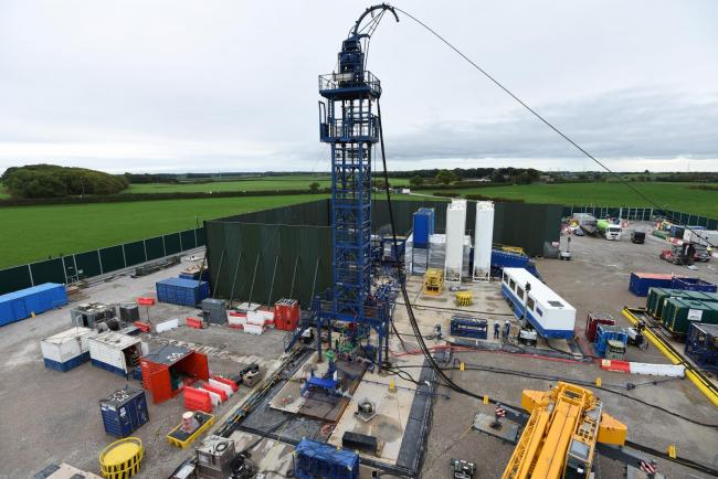 The Cuadrilla hydraulic fracturing site at Preston New Road in Lancashire. Fracking will no longer be allowed because of new scientific analysis, the Government has said. Picture: Cuadrilla/PA Wire