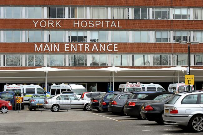 York Hospital where waiting times are on the rise