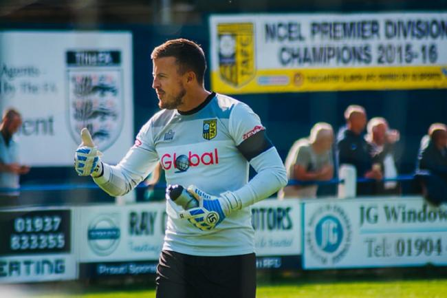 Tadcaster Albion goalkeeper Michael Ingham is one of the six players to have committed their future to the Brewers. Picture: Matthew Appleby
