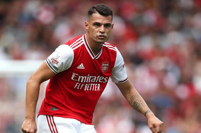 Granit Xhaka will miss Arsenal's trip to Leicester