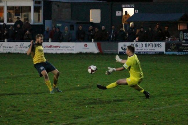 Jake Day goes close. Picture: Keith A Handley