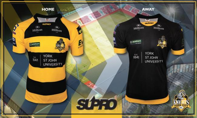 York City Knights' home (left) and away (right) kits for the 2020 Betfred Championship season. Picture: York City Knights