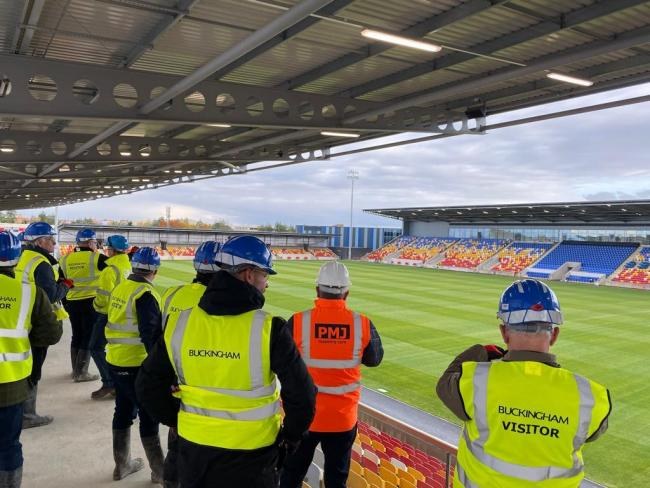 Inside the new Community Stadium, the future home of York City FC and York City Knights RLFC. Picture: York City Knights RLFC