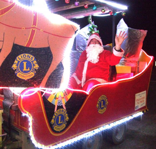 Santa and his band of helpers from Ryedale Lions Club begin their annual sleigh tour at the Pickering Christmas lights switch-on this Saturday