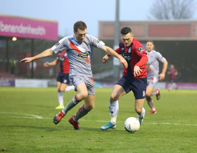 York City's Macaulay Langstaff in action against Altrincham, whom York may face in the play-off semi-finals. Picture: Gordon Clayton