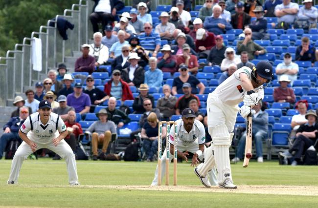 Yorkshire's Adam Lyth in action at Clifton Park against Warwickshire. Picture: Frank Dwyer