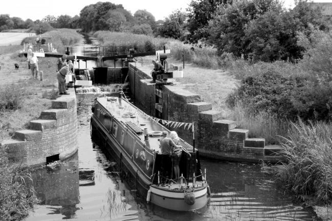 A boat enters the restored Walbut lock in 2018. Picture: Pocklington Canal Amenity Society