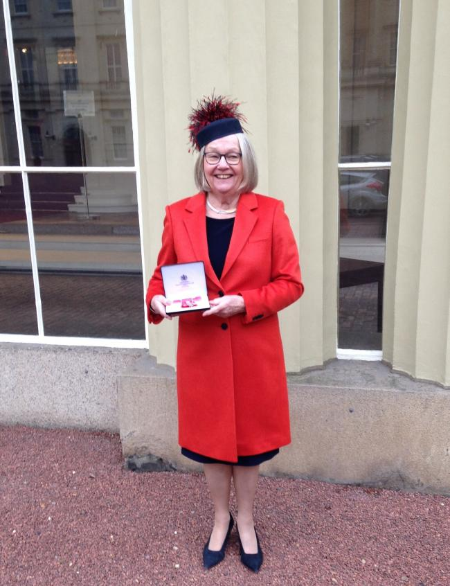 Sylvia Tiffney has been recognised with an MBE for her dedication to early years education for more than 40 years