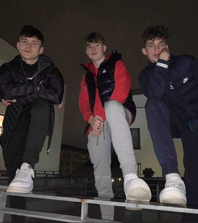 Jay Casey, 17, from York, Mikey Cobban, 17, and Nathan Gurd