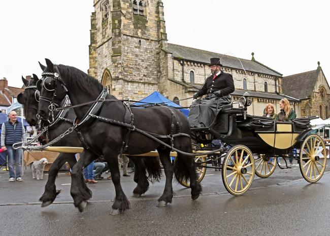Carriage rides in Malton for Christmas
