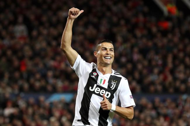 Juventus' Cristiano Ronaldo celebrates scoring against Manchester United