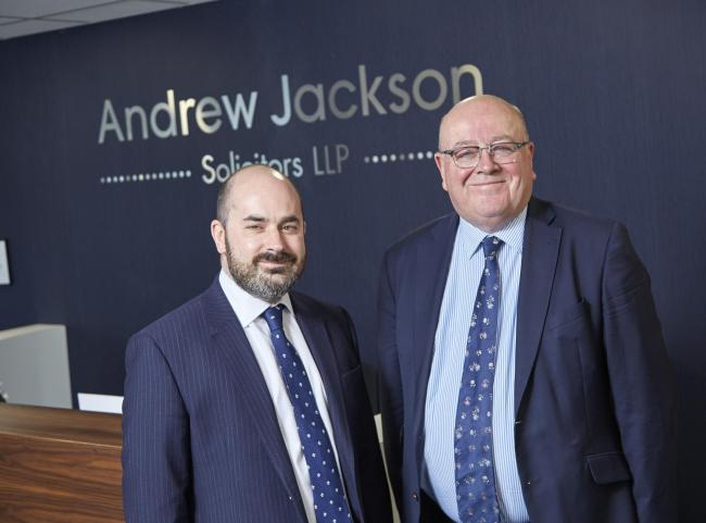 Martin Frost with Philip Ashworth, of Andrew Jackson Solicitors