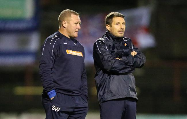 York City manager Steve Watson and assistant manager Micky Cummins