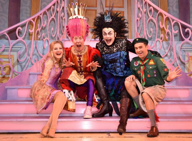 The cast of the Theatre Royal pantomime Sleeping Beauty. Left to right: Princess Beauty (Suzy Cooper), Queen Ariadne -(Martin Barrass), Evil Diva (David Leonard) and Darth Diva (AJ Powell). Picture Frank: Dwyer