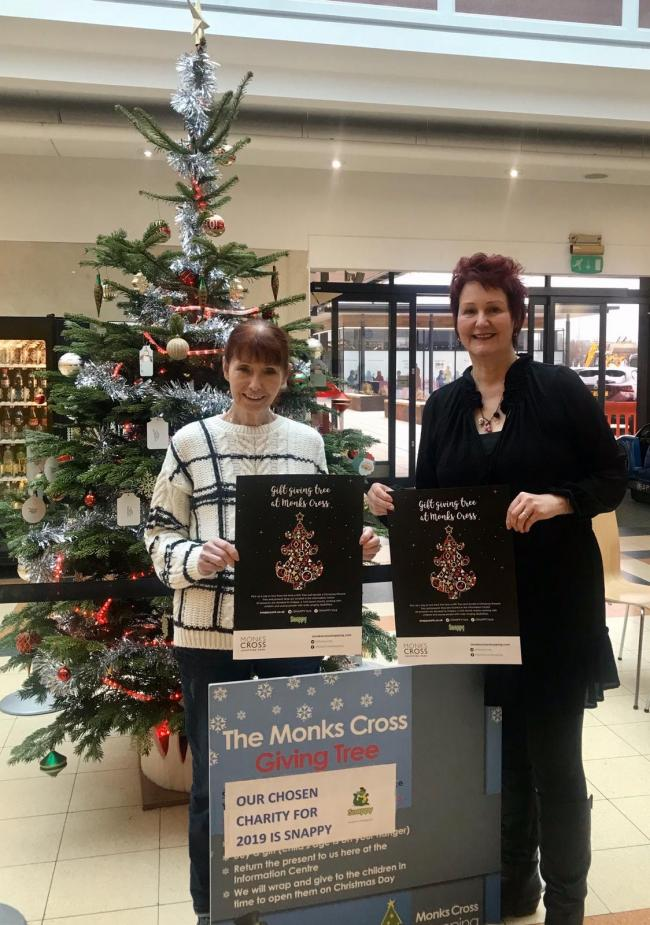 Katherine Sharp, centre manager at Monks Cross with Anne Stamp from Snappy