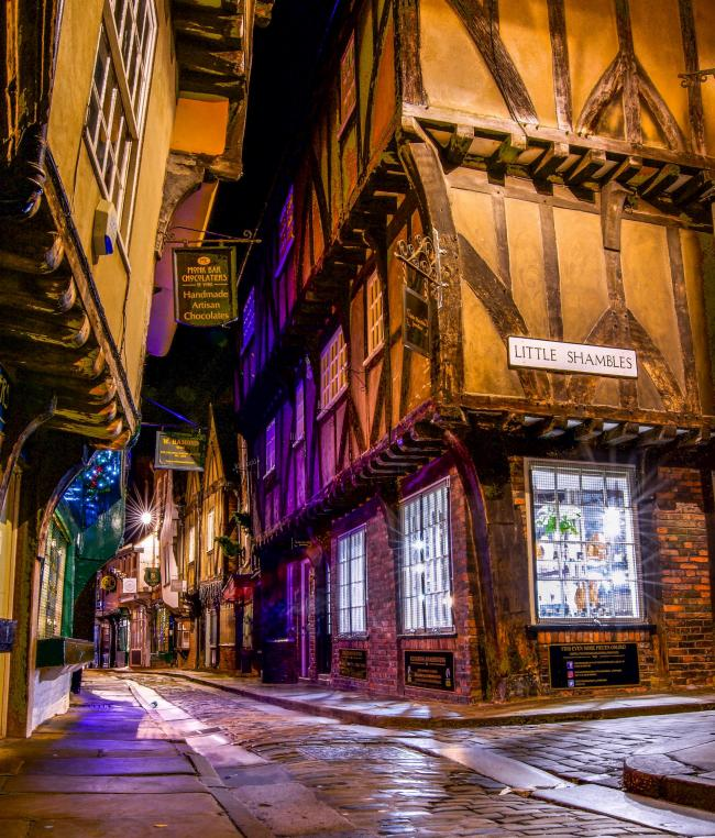 The Shambles in York by Simon Abbott