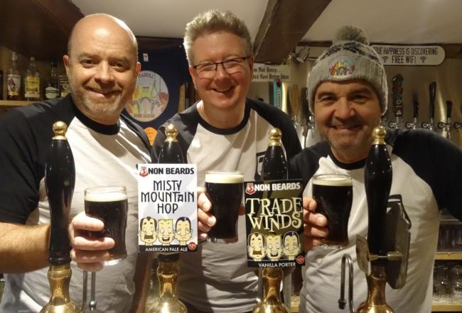 Jason Simpson, Andy Aspin and Paul Marshall have set up The 3 Non Beards brewery