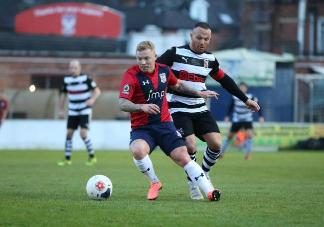 Former York City midfielder Elliott Durrell has made a flying start for Altrincham, who are tomorrow's visitors to Bootham Crescent. Picture: Gordon Clayton