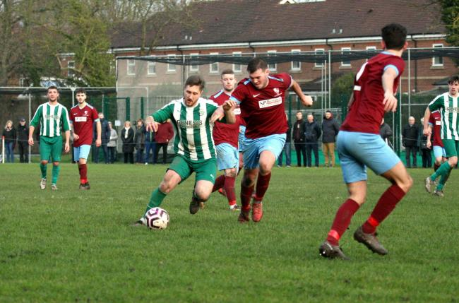 Wigginton Grasshoppers' Matt Tiplady, who was on target in the 5-1 win over Easingwold Town. Picture: Mark Crow