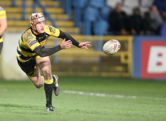 York City Knights hooker Will Jubb in action against Featherstone Rovers. Picture: Gordon Clayton