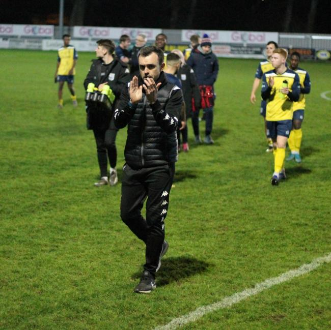 Tadcaster Albion manager Paul Quinn, who is keen to have supporters back in for tonight's match against Selby Town. Picture: Keith Handley