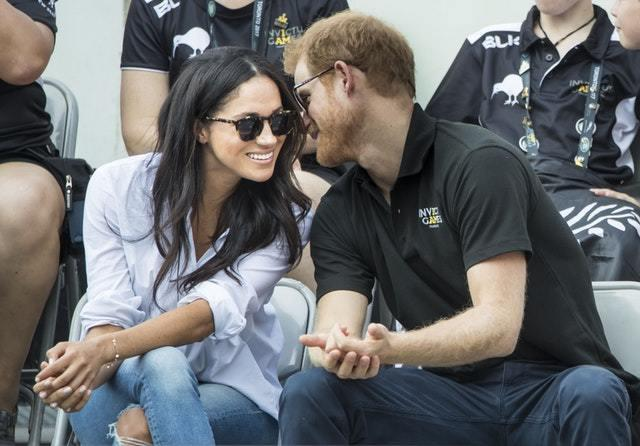 Meghan Markle with Prince Harry Picture Danny Lawson PA