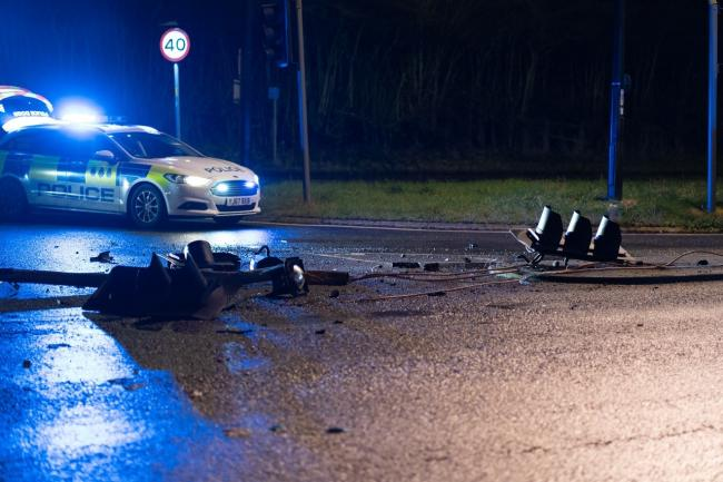 The scene of the crash on Hull Road in York. Picture: Yo Visuals