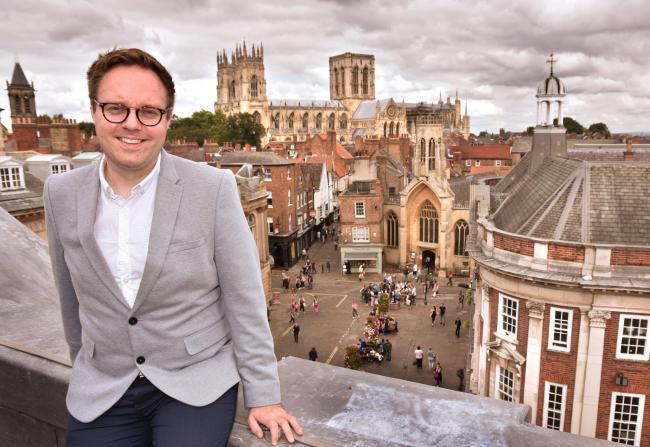 Paul Whiting, of Make It York, will unveil the latest tourism figures for the city at the Visit York tourism conference 2020  Picture: Frank Dwyer