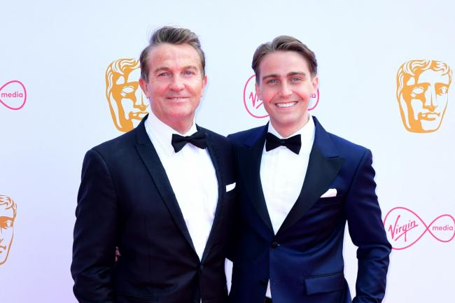 Bradley Walsh with his son Barney