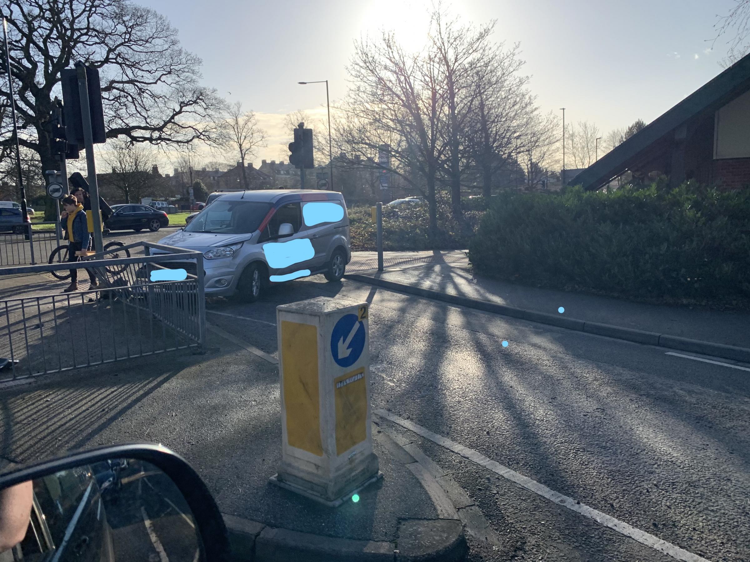 Van Crashes Into Pelican Crossing Railings Near York Tesco