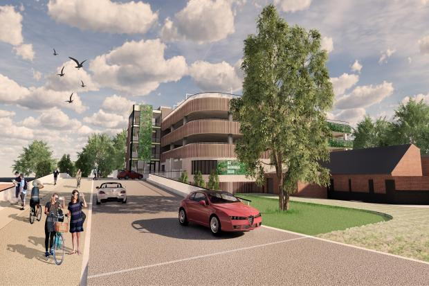 Banning cars from the city centre then building a new car park for then at St George's Field just doesn't make sense, says our correspondent. Image of planned new car park: City of York Council