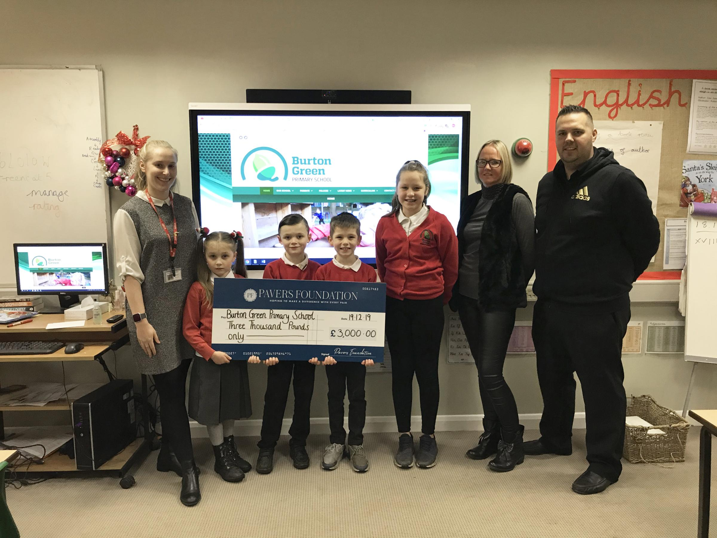 York school buys new interactive board after receiving £3,000 boost