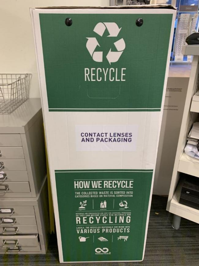 Specsaver recycle box