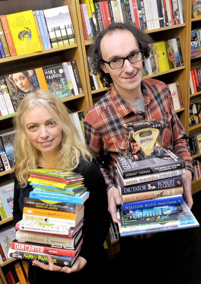 Book, books, glorious books: Little Apple Bookshop owners Tim Curtis and Philippa Morris