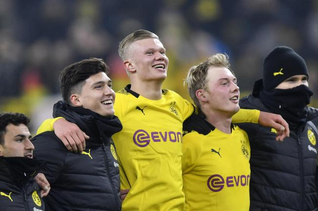 Erling Haaland scored two more goals for Borussia Dortmund