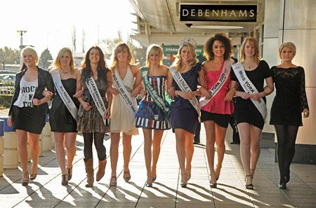 BEAUTY queens past and present gathered at Debenhams at Monks Cross to celebrate the fifth anniversary of the Miss York competition that has propelled local girls to fame.