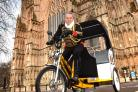 John Wright who has started up a rickshaw business in York  Picture Frank Dwyer