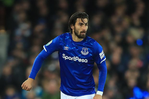 Andre Gomes has returned to first-team training with Everton