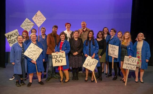 York Central MP Rachael Maskell joins the cast of Made in Dagenham during rehearsals at Joseph Rowntree Theatre which starts on February 5; tickets are available from the box office and online