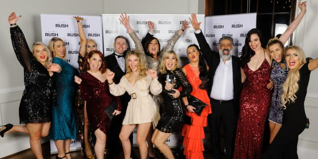 The team from Rush York which was crowned Salon of the Year at the Rush awards night.