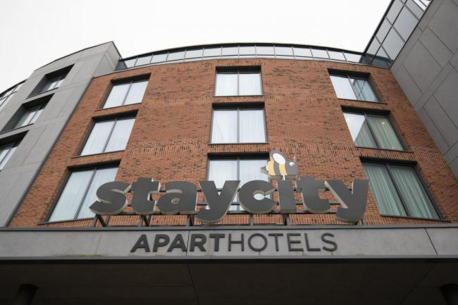 York's StayCity aparthotel, where the pair were staying when they fell ill with coronavirus
