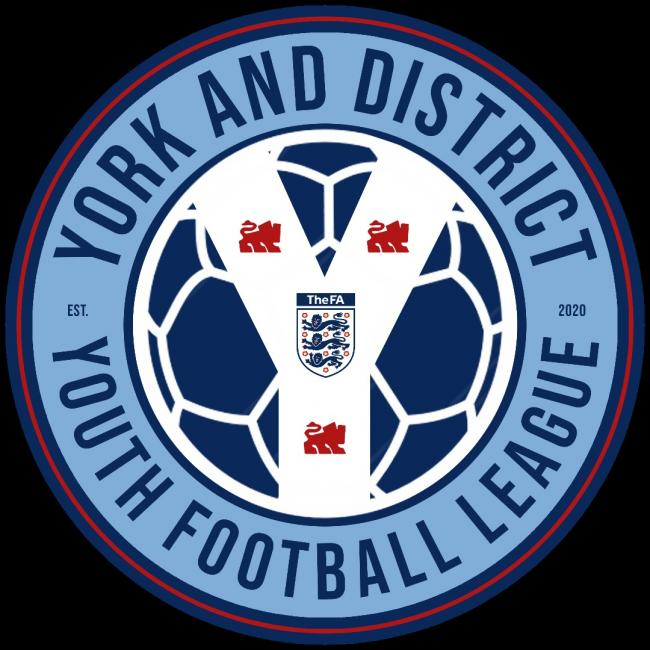 The new crest of the York & District Youth Football League.