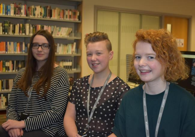 York College Oxbridge candidates Emily Kelly, Keturah Sergeant and Annie Brown