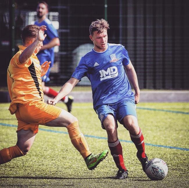 F1 Racing's Dan Hickey, who scored a brace in his side's 5-2 win over Church Fenton. Picture: F1 Racing FC