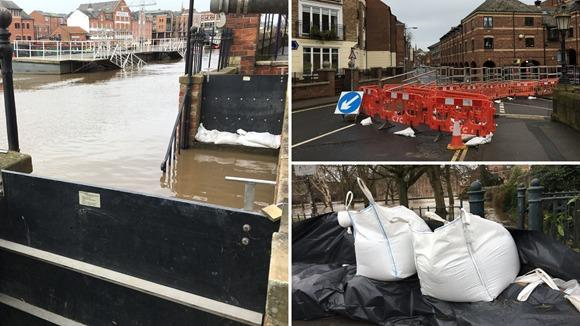 Flood defences in York