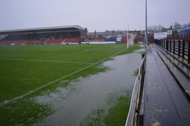 Bootham Crescent in 2015 after heavy rainfall forced another postponement. Picture: Steve Carroll